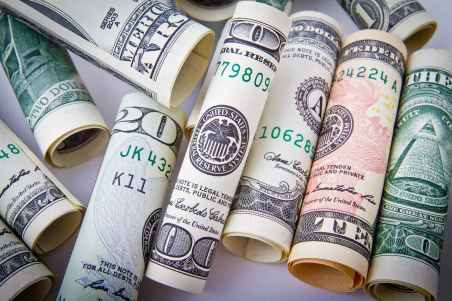 Make money from home - dollar bills